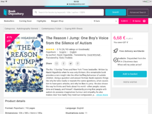 Autism/Aspergers: The reason I jump book now just €6 79 and